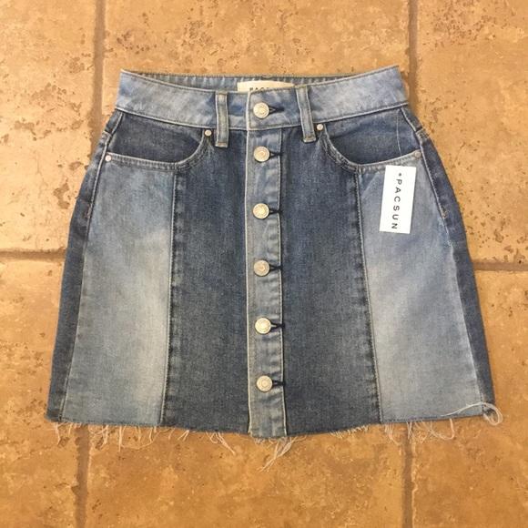 PacSun Dresses & Skirts - PacSun button up denim skirt